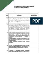 Procedimiento Administrativo Declaración de Impuestos i.municipalidad de Copiapó.