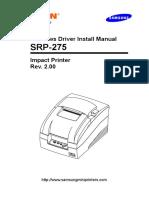 Windows Driver Install Manual SRP-275
