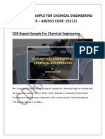 CDR Report Sample for Chemical Engineering Discipline