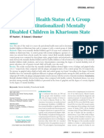 03_Periodontal Health Status of A Group of (Non- Institutionalized) Mentally Disabled Children in Khartoum State.pdf
