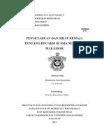 Pengetahuan dan Sikap Remaja tentang HIV-AIDS di SMA Negeri 17 Makassar - Muhammad Fauzi Ramadhan - C11108264.pdf