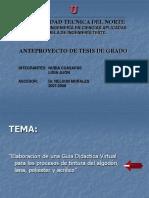 Presentación Anteproyecto de Tesis