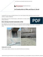 Errors During Concrete Construction at Site and How to Avoid Them