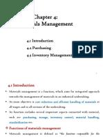 CH 4 Materials Management