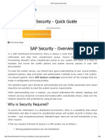 SAP Security Quick Guide