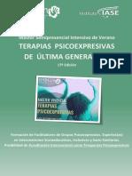 Máster Semipresencial  TERAPIAS PSICOEXPRESIVAS  DE ÚLTIMA GENERACIÓN - ARTETERAPIA