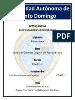 Centro de Gravedad Corporal y Actividad Física Jose Capellan