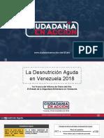Informe de Ciudadanía en Acción sobre la desnutrición aguda en Venezuela 2018