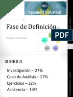 FASE DE DEFINICION- METODOLOGIA SEIS SIGMA