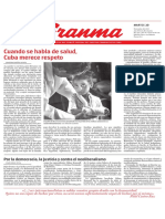 Diario Granma. 20 noviembre de 2018. p.1