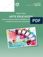 Máster Online  ARTE EDUCACIÓN.  Experto en Recursos Artísticos, Simbólicos y Creativos en el Aula  Acreditación Internacional como Educador Expresivo