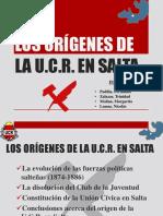 Los Orígenes de La Ucr en Salta