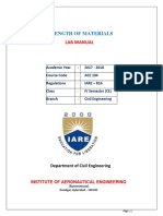 IARE Strength of Materials Laboratory