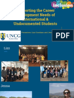 supporting the career development needs of international   undocumented students