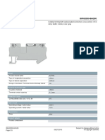 Datasheet borne Siemens