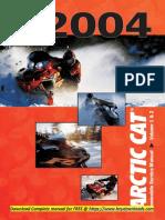 Arctic Cat Snowmobile Service Manual Repair 2004 Download free pdf