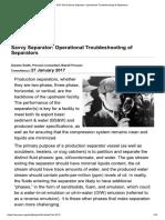 Operational Troubleshooting of Separators