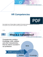 Shrm Cp-scp Hr Competencies