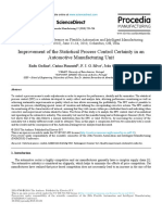 Improvement of the Statistical Process Control Certainty in an Automotive Manufacturing Unit