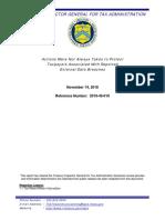 TIGTA IRS report