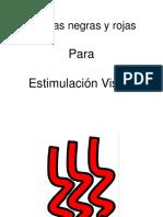 Tarjetas en Negro y Rojo Para Estimulacion Visual Objetos