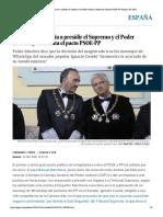 Marchena renuncia a presidir el Supremo...ta el pacto PSOE-PP | España | EL PAÍS
