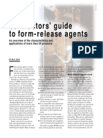 Concrete Form Release Agents