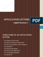 Application Letters and Cv
