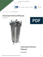 Autoclave Vertical Manual – Equipo Novatech