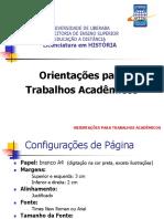 Orientação para trabalhos acadêmicos UNIUBE