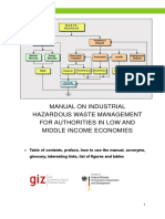 Manual on Industrial Hazardous Waste Management for Authorities in Low and Middle Income Economies