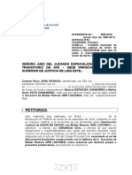 Modelo Apersonamiento de Denuncia Civil en Proceso Conocimiento Ore
