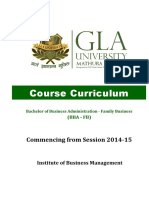 BBA (FB) Course Curriculum