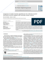 Comparison of Modern Heuristic Algorithms for Loss Reduction in Power Distribution Network Equipped With Renewable Energy Resources