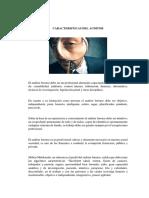 Caracteristicas Del Auditor y Perfil de Auditor Forense