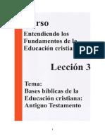 Lección 3 Las Bases Bíblicas de La Educación Religiosa en El Antiguo Testamento