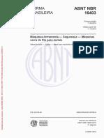 Normar ABNT 16403 - Serra Fita Horizontal e Vertical.pdf