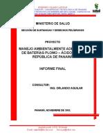 INFORME BATERÍAS MINSA