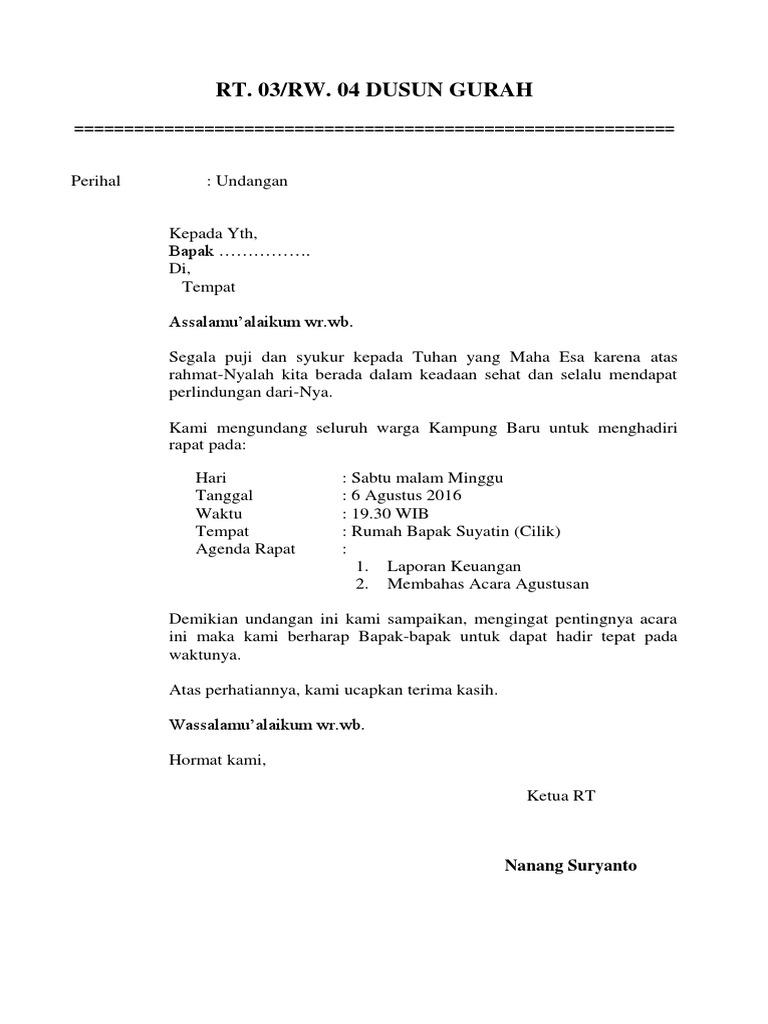 Contoh Surat Undangan Menghadiri Acara Pentas Seni Contoh Seputar Surat