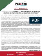 Not a de Prensa Pro e Tica 191118