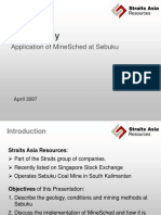 313015236 Case Study MineSched at Sebuku