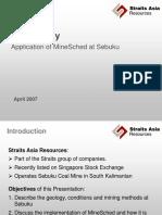 313015236 Case Study MineSched at Sebuku