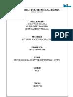 Informe Sistemas Microprocesados Practica 1 Avr
