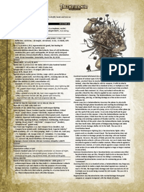 3 5 to Pathfinder conversion - Epic Mythic Hecatoncheires