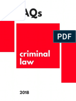 Criminal Law Faq