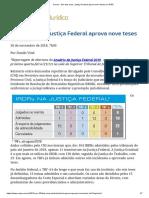 ConJur - Em Dois Anos, Justiça Federal Aprova Nove Teses Em IRDR