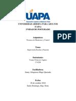 Técnica de Monitorio y Control - Supervisor Escolar y Función - UAPA