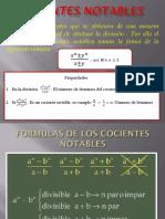 Algebra - Cocientes Notables