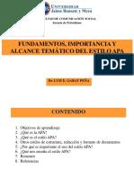 APA.tema1.Fundamentos Importancia y Alcance Tematico Del Estilo APA