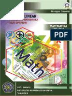 Bahan Ajar  Model Matematika dan Nilai Optimum titik pojok (Program Linear)